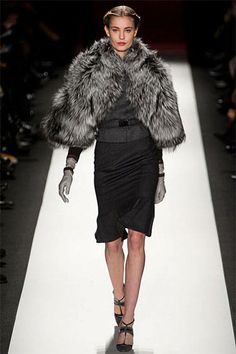 Rag & Bone Gray Coat and Skirt with Black Top - Runway Fall Fashion Trends 2013 - Harper's BAZAAR