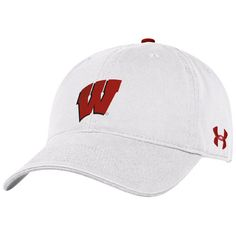 Wisconsin Badgers Under Armour Women's Relaxed Adjustable Hat - White