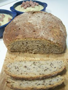 Moje Wypieki | Chleb z siemieniem lnianym i słonecznikiem (na zakwasie)