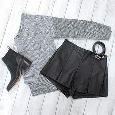 Sweet and simple emoji Our 'Holding On' sweater + 'Slick Back' shorts + 'Lipstick-Arrow' boots + 'On The Road' belt emojiShop now @ www.showpo.com #iloveshowpo