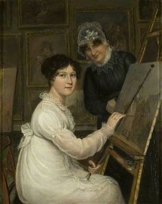 Professional and talented artist. 'The artist and her mother' by Rolinda Sharples