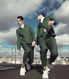 Johnny sandaire commercial photography · men sports fashion · adriensahoress: adrien and janis for kris van assche fashion poses, fashion clothes, suit Costume Vert, Portrait Photography, Fashion Photography, Wedding Photography, Mode Editorials, Fashion Poses, Fashion Clothes, Fashion Shoot, Fashion Stylist