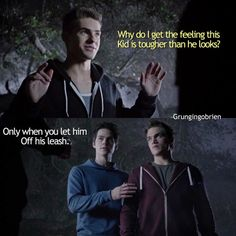 Teen Wolf season 5 - Theo, Stiles, and Liam
