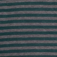Who needs solids when you can have stripes?! Here, we have a semi-sheer, light-weight, heathered gray and deep teal striped cotton jersey with an extremely soft hand. This material contains a fantastic amount of stretch in the weft and a slight stretch in the warp. Light-weight with an extremely soft drape, use this material to create comfortable tees, maxi skirts, cardigans, and more!