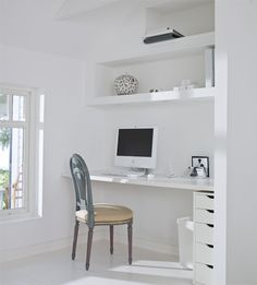 Simple Office Setup in a Swedish Summer Cottage