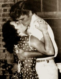 Carolyn Bradshaw and Elvis at Louisiana Hayride--August 13,1955