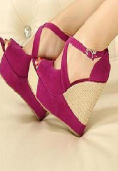 Open Toe Cross Platform Wedge  #opentoewedges #opentoeplatforms #platformwedges