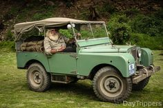very famous man in the world Land Rover