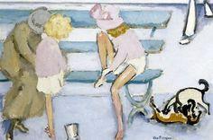 Kees Van Dongen「Children by the Sea」(1920)