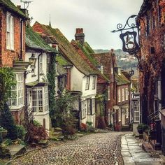 be still my heart! An entire street full of old, lovely and wonky buildings!Oh, be still my heart! An entire street full of old, lovely and wonky buildings! Places To Travel, Places To See, House Of Beauty, England And Scotland, Architecture Old, English Countryside, The Good Place, Beautiful Places, Beautiful Pictures