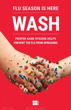 Wash Hand Hygiene Prevents Flu Poster Reminds people to wash and sanitize their hands to prevent FLU. Wash Hand Hygiene Prevents Flu Poster Reminds people to wash and sanitize their hands to prevent FLU. Hand Hygiene Posters, Safety Posters, Hand Washing Poster, Flu Prevention, School Health, Infection Control, Flu Remedies, Flu Season, Hand Sanitizer