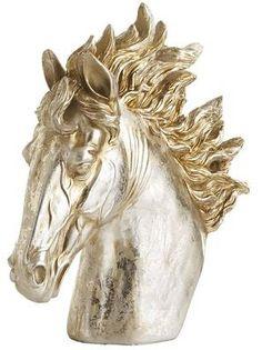 Champagne Patina Horse Head