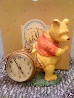 Classic Pooh Large Antique Style Figural Clock