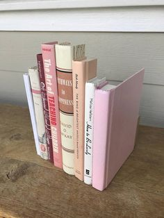 Mother's Day Unique Gift Pale Pink White Silver Book Box, Gift Idea Moms Day Mothers Day, Organize and Storage Ideas