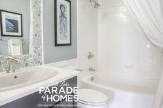 Salt Lake Parade of Homes tiled mirror is cute