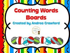 FREE- Counting Words is a phonological awareness activity that allows children to discern the words in sentences.  These colorful boards will give students a place to move their tiles or counters for each word in the sentences.  This could also be used for counting syllables.