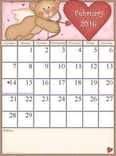 Free Calendar Printable from Graphic Garden.