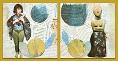 Collage, Van, Kids Rugs, Poster, Prints, Canvas, Painting, Mixed Media, Decor