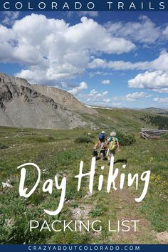 """Figuring out what day hiking essentials you need in your backpack can be overwhelming ... The hiking essentials listed are exactly """"what to bring"""" on your day hike. If you don't have it, chances are you'll wish you did when on a trail and you find it's not there! Practical gear that we love at Crazy About Colorado and have in our backpacks on every hike. Colorado Trail, Hiking Essentials, Day Hike, Hiking Trails, Snowboard, Mtb, Bring It On, Backpacks, Colors"""