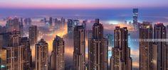 DUBAI CITY SUNRISE FOG
