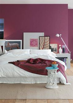 Decor * Decoração * Home * Casa * Ideas * Idéais * Inspiraçã Magenta Bedrooms, Magenta Walls, Bedroom Colors, Home Decor Bedroom, Modern Bedroom, Bedroom Wall, Bedroom Furniture, Design Bedroom, Bed Room