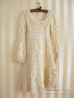 chunky handmade sweater -dress. one day I wish to have one
