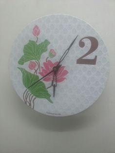 letterpress wall clock