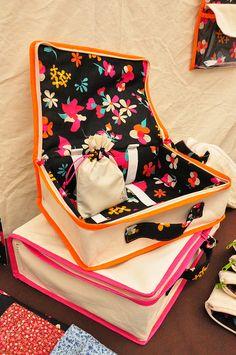 hand sewn luggage!