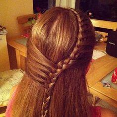Cool hair variation for Miss K.