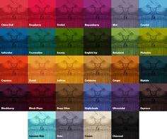 Jewel colors