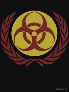 The symbol of biohazard danger based of the logo of the UN. If you're a fan of this symbol then this is the right design for you. SHow your friends and foe that your biohazard with this design. Apocalypse Art, Call Of Duty Black, Tshirt Colors, Wardrobe Staples, Classic T Shirts, The Unit, Neon, Construction, Wallpapers