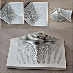 Folding pages in a book= display