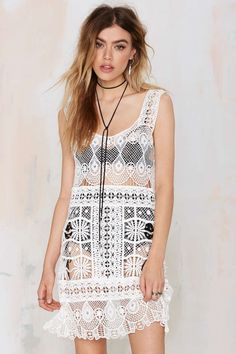Nasty Gal Look Back Crochet Dress | Shop Clothes at Nasty Gal!