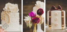 his and hers mini wedding cakes // engagement party // styled shoot // cakes by Peche Petite in Atlanta