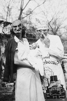 gravesandghouls:  Halloween family portrait, 1949