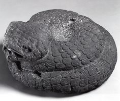 Coiled serpent sculpture. Mexico. Aztec. 15th century to early 16th century AD
