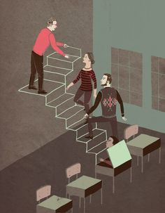 Catherine Lepage: Simple, clever editorial illustration