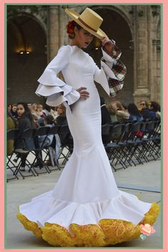 Flamenca Spain Flamenco Dancers, Flamenco Dresses, White Fashion, Boho Fashion, Engagement Dresses, Wedding Dresses, Beautiful Dresses, Nice Dresses, Spanish Dress
