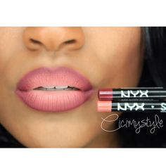 deep purple & natural on the lips #cicimystyle #nyxcosmetics