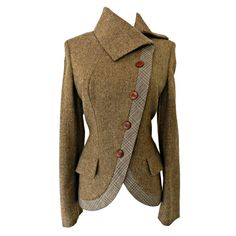 Alexander McQueen Brown Wool Riding Jacket | From a collection of rare vintage jackets at https://www.1stdibs.com/fashion/clothing/jackets/