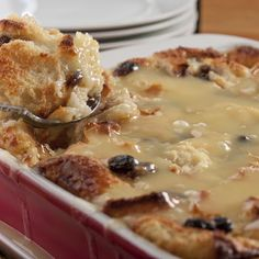 New Orleans Bread Pudding with Bourbon Sauce @keyingredient #bread