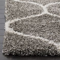Safavieh Hudson Shag Modern Ogee Grey/ Ivory Rug (9' x 12') | Overstock.com Shopping - The Best Deals on 7x9 - 10x14 Rugs
