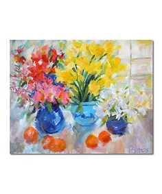 Sunny Stilll Life Wrapped Canvas