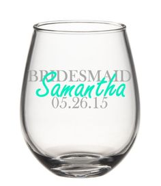Hey, I found this really awesome Etsy listing at https://www.etsy.com/listing/234822873/bridesmaid-wine-glasses-bridal-party
