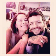 Robi Draco Rosa y Angela Alvarado