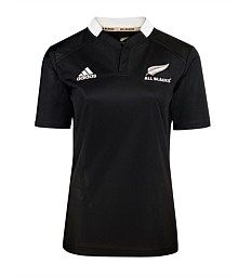 www.nzallblacks.net  All Blacks Womens Home Jersey. Made from adidas ClimaCool technology Features new close fit neck design Embroidered adidas and All blacks logos #rugby #adidas #womens #allblacks #casual Rugby Teams, Sports Birthday, All Blacks, Rugby World Cup, Neck Design, Christmas Presents, Adidas, Technology, Future