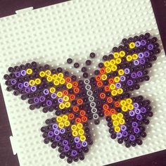 Butterfly hama perler beads by tamatek