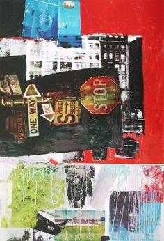 Robert Rauschenberg, 'stop' 1963 Robert Rauschenberg, Collages, Collage Artists, Mark Rothko, Richard Diebenkorn, Joan Mitchell, Camille Pissarro, Paul Gauguin, Abstract Expressionism
