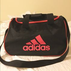 1a213dd71f Adidas gym bag Black and pink. Great for the gym or nights weekends away