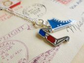 Allons-y! tenth doctor inspired geek necklace